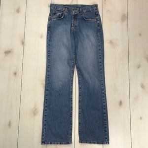 Lucky Brand Dungarees Low Rise Fit Flare Jeans 4